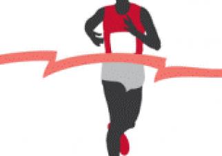 The Half Marathoner, by Terrell Johnson; featuring Carissa Liebowitz and Hollie Sick