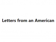 Letters from an American, by Heather Cox Richardson