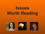 7/9/21 Recommended Issues: Agency for Kids, Climate Blame Game, Common Sense