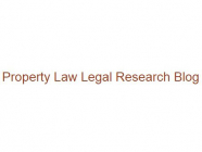 Property Law Legal Research Blog